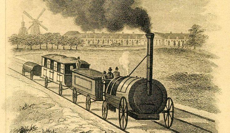De eerste spoorlijn in Nederland 1839, tussen Amsterdam en Haarlem.