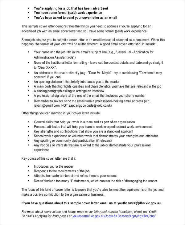 sample resume cover letter documents pdf word sending your and letters via email