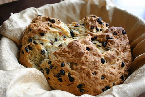 Irish Soda Bread. I love the stuff. I haven't tried this recipe, but ...