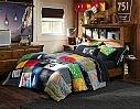 Boys Striped Bedding & Hampton Bold Sport Bedroom   PBteen