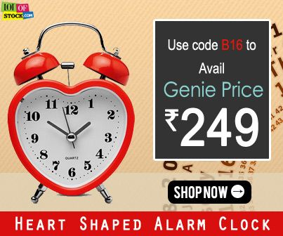 Try Heart Shaped Alarm Clock..You'll Love It..http://goo.gl/Aa9cBb