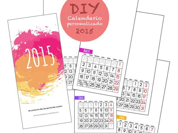 Calendario 2015 para personalizar