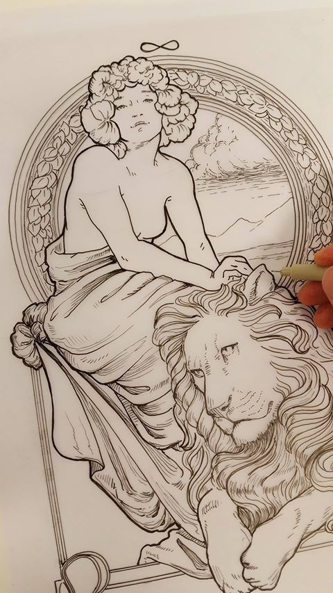 Artists Colouring Book Art Nouveau : 991 best images about art that inspires on pinterest