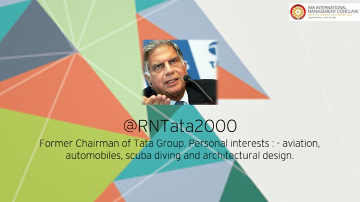 #IMA International Management Conclave has been an active forum for the exchange of thought on management practices  - #RatanTata #IMAConclave14