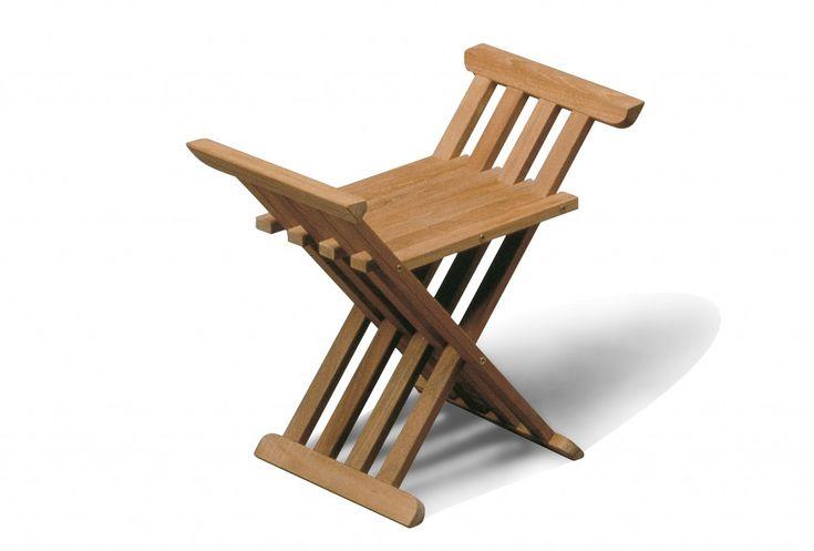 #teak houten #badkamer kruk , inklapbaar!