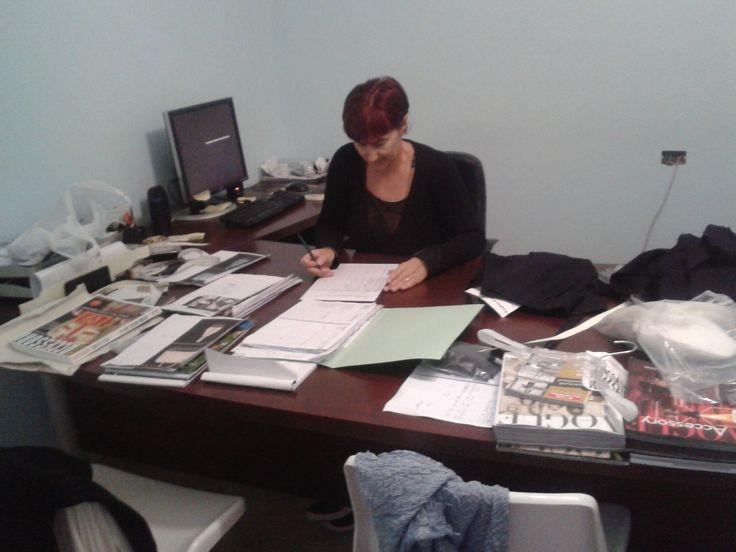 Lucia Sarti al lavoro