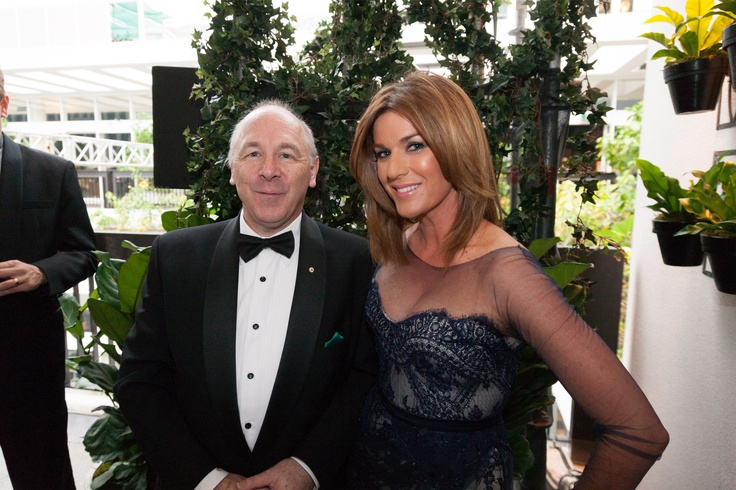 Prof. Ian Olver AM with Kylie Gillies at The Emeralds & Ivy Ball