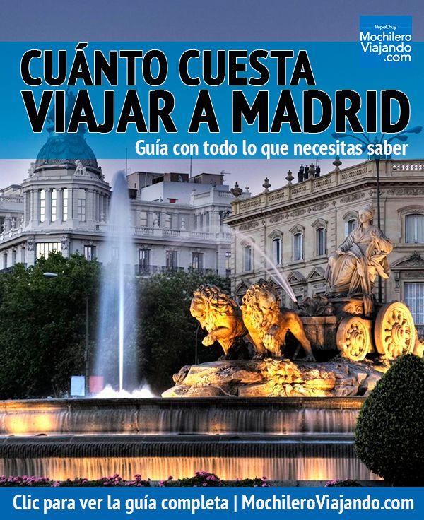 Todo lo que necesitas para saber cuánto cuesta viajar a Madrid, aquí encontrarás costos de hospedaje, alimentos, transporte, atracciones y más, así como ejemplos de presupuesto diario: austero, moderado y de lujo.  #Madrid #España #Viaje #Mochilero #Cibeles #PlazaCibeles #guia #guide #viajes #presupuestos #guiadeViaje #traveltips #travel #travelblog #travelblogger #europe #spain