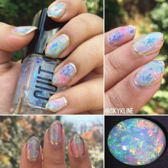 Opal Rainbow - Gorgeous Geode-Inspired Designs Are the Newest Trend in Nail Art - Photos