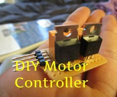This is a simple to build motor controller. It is handy for many projects using a motor controlled by a micro-controller. It can be used as an Electronic Speed Controller (ESC) and has forward and reverse control. It can be used in robotics, remote control projects, portable vehicles and most things motorized. It also uses very little parts. All of this is made into a tiny package to fit in your DIY projects.This circuit is based off of a Driving Bigger Loads circuit in one of my books…