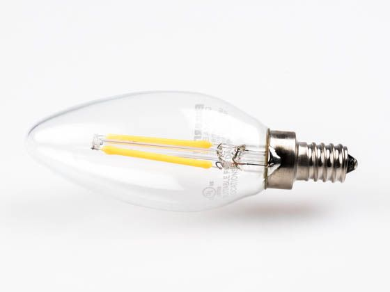 bulbrite dimmable decorative filament led bulb rated for enclosed fixtures
