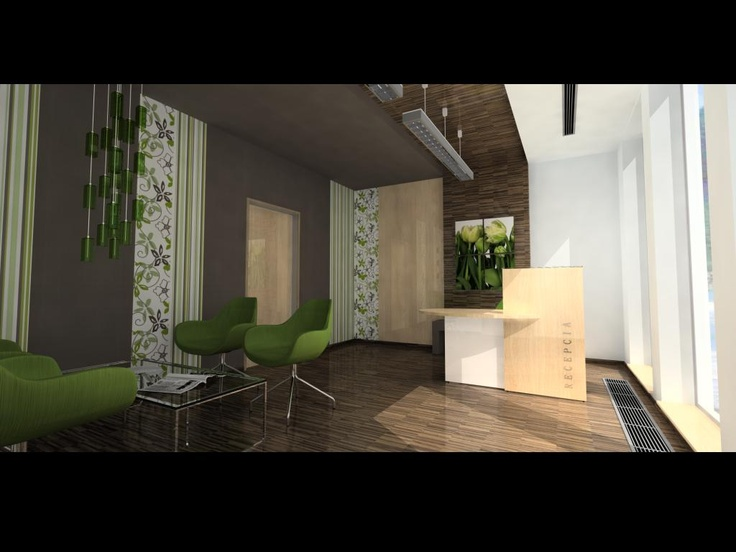 Interior study for an office reception by Marin Jurk, modelled and  rendered in TurboCAD v17