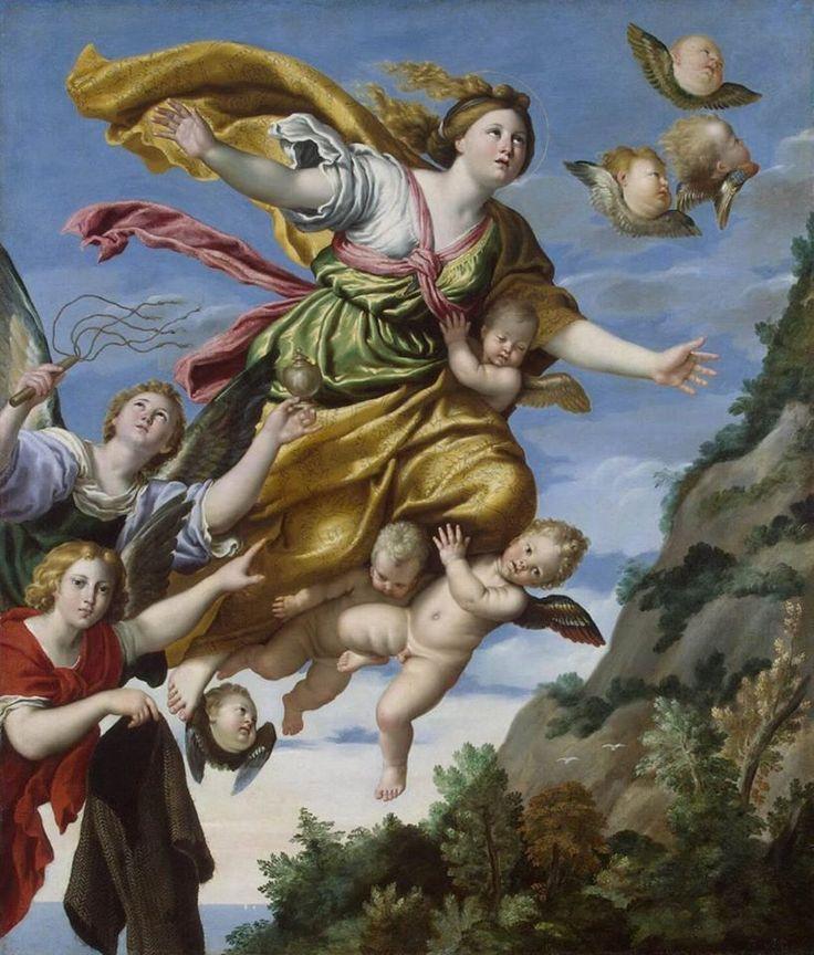 Maddalena portata in cielo, opera del Domenichino che si trova all'Hermitage