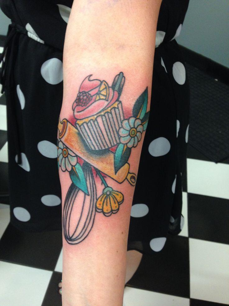 Baking tattoo of mine by Matt Miskol at yellow rose tattoo in slc Utah