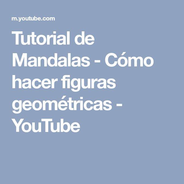 Tutorial de Mandalas - Cómo hacer figuras geométricas - YouTube