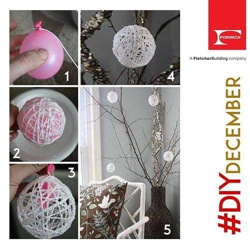 Make some snowy white ornaments with #DIYDecember! Share a picture of any DIYs you've tried before in the comment section below. #FormicaIndia . . #Heritage #Formica #laminates #home #instahome #decor #instadecor #homedecor #interiors #instainterior #interiordesign #interiordesigner #homeimprovement #plywood #manufacturers #architecture #design #homedesign #architecturedesign ##architecturelovers #archdaily #architectural #architecturestudent #DIY #diydecor #doityourself - Architecture and…