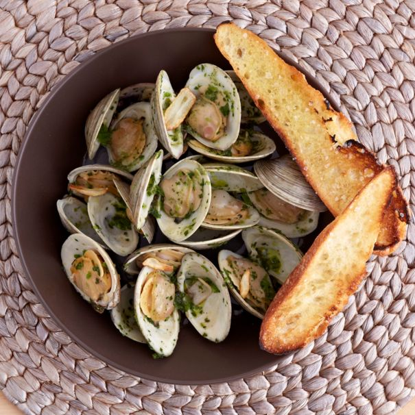 Spicy Shellfish recipe from chef and TV personality Aarón Sánchez - a quick Mexican recipe anyone can pull off at home.