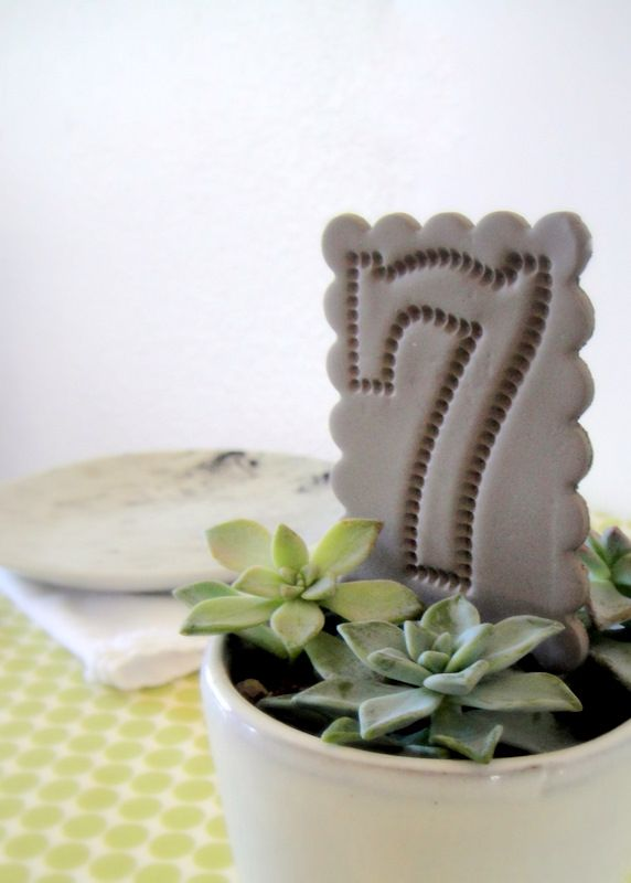 DIY Clay Table Numbers and Flags | The Sweetest Occasion