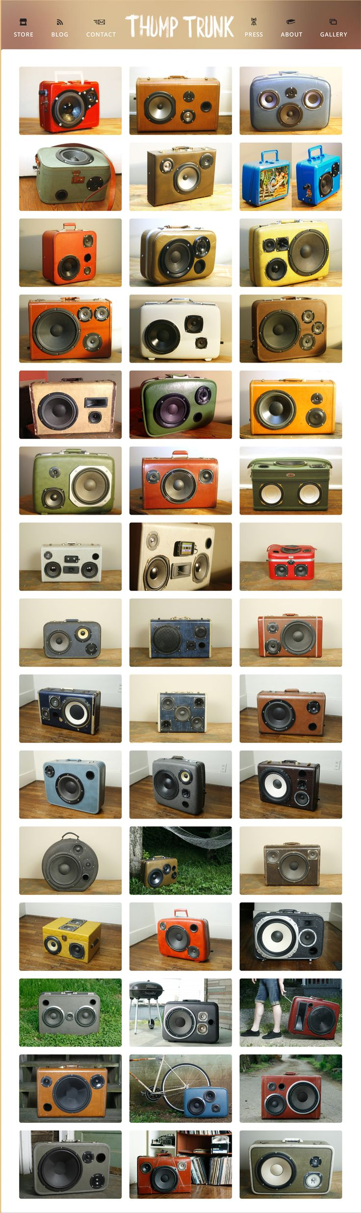 www.thumptrunk.com ,Battery powered Suitcase Boom Boxes.