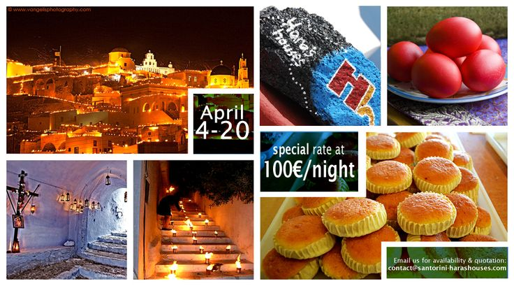 Be part of Santorini's Easter magic at Hara's houses!