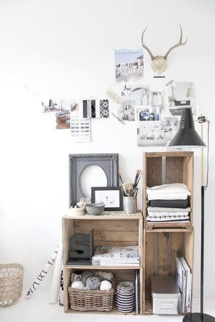 Vintage Crates used for shelves