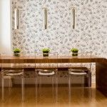Kids ghost chair dining room modern with clear dining chair built-in wood bench