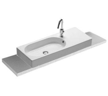 Area 90x35 lavabo appoggio - Produzione sanitari di design in ceramica, arredo bagno e accessori - Hatria Srl