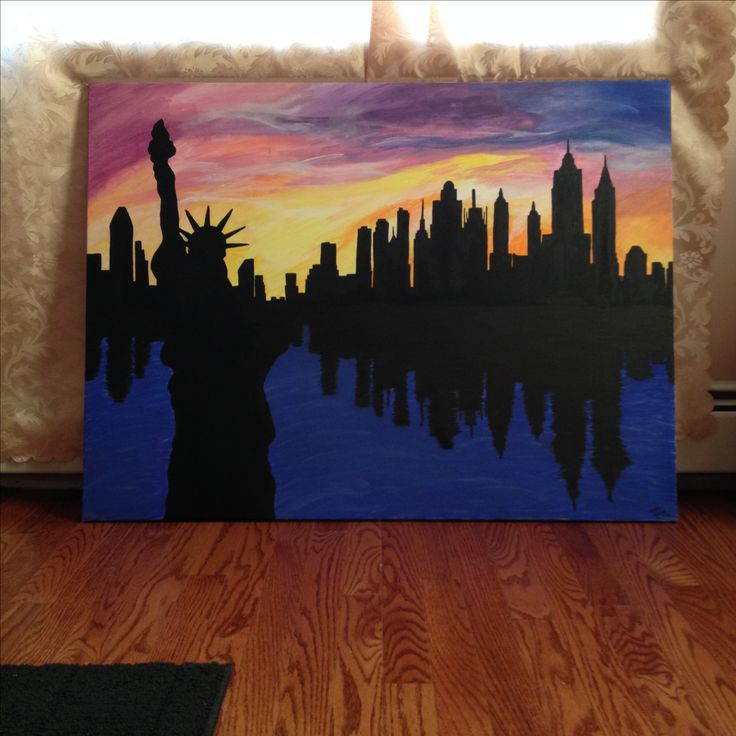 New York Skyline painting @Megan Moniz