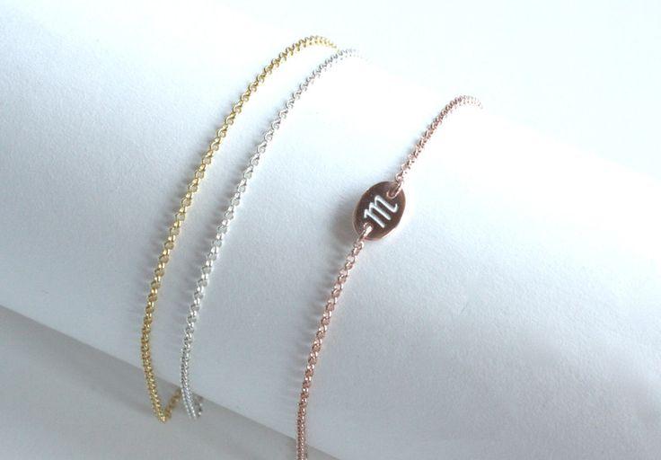 Silberarmbänder - Armband Sterling Silber - rose - mit Gravur - ein Designerstück von keepmeinmind bei DaWanda