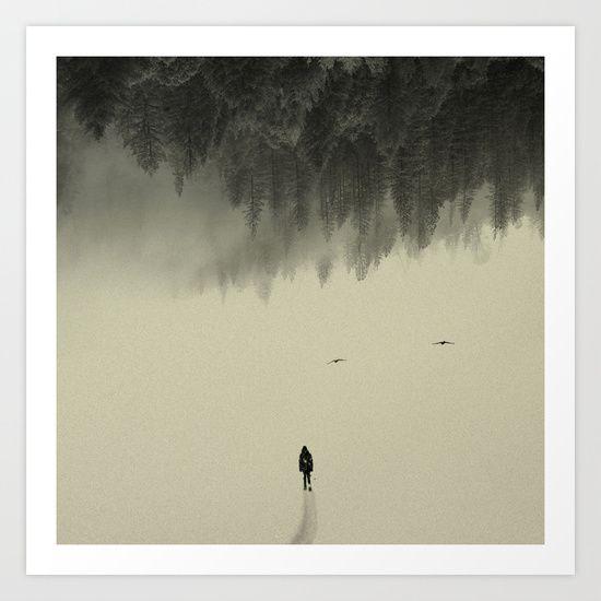 Silent walk Art Print by Andreas Lie - $18.00