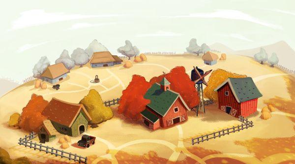Little Farm by Diana Pedott, via Behance