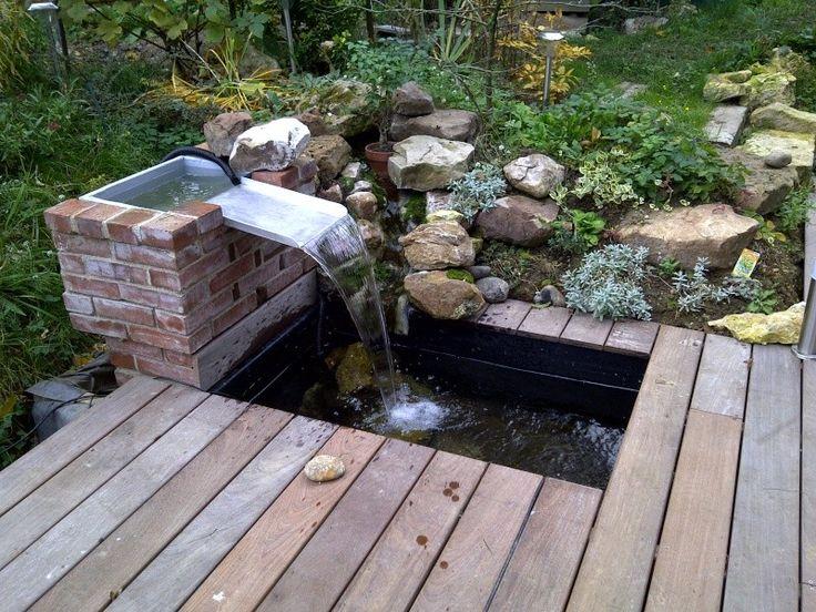 fontaine et terrasse bois