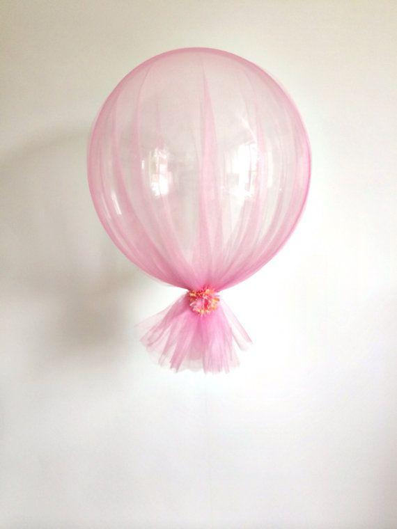 FREE SHIPPING roze Tule perzik bloem bruiloft duidelijk ballon