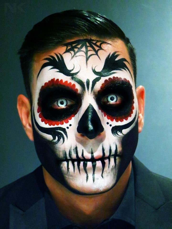 sugar skull makeup for men dia de muertos mexico cultura tradicion calavera catrina day of the death - Halloween Day Of The Dead Face Paint