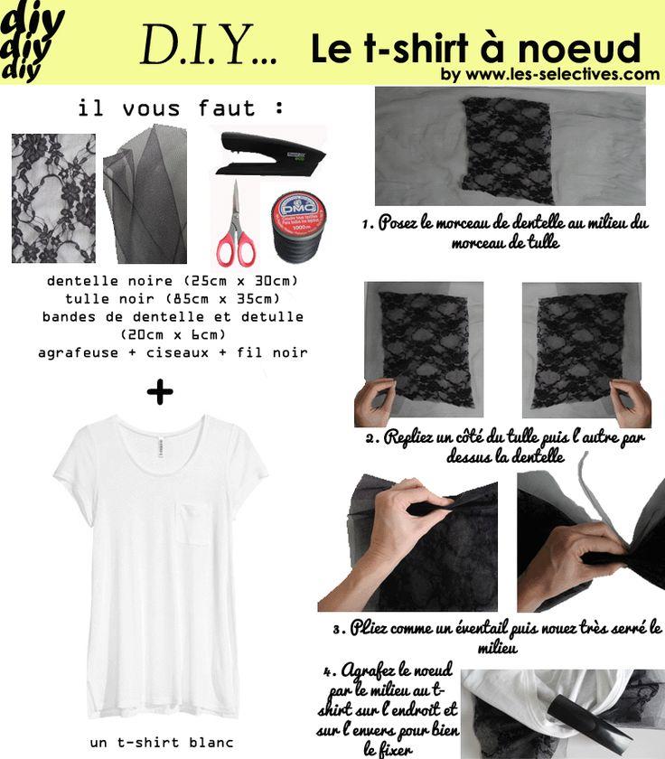 customiser un t shirt blanc et en faire un t shirt noeud tee shirt pinterest blog diy