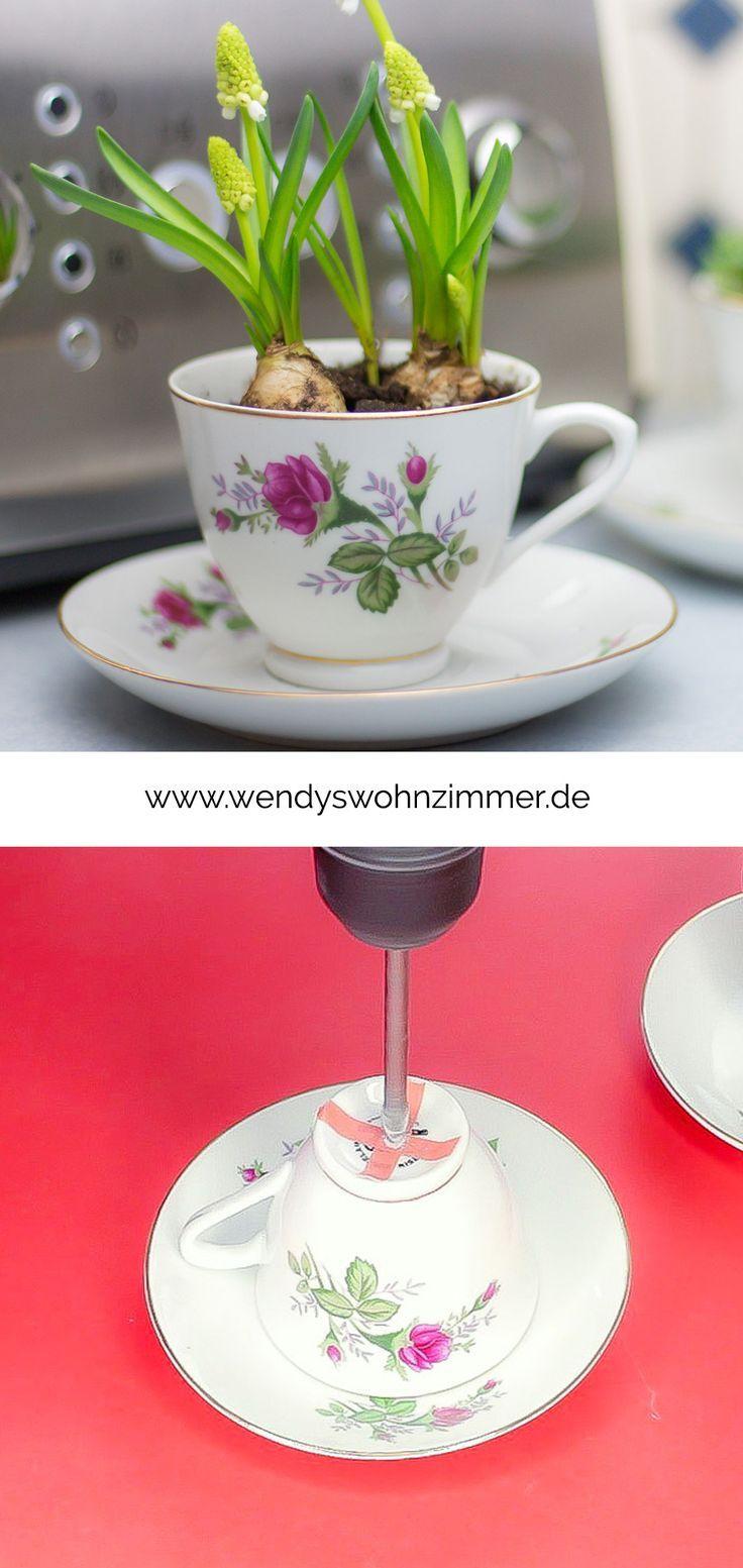 Upcycling Von Teetassen Kräutertasse Blumentopf Etageren Selber Machen Teetasse Tassen Dekorieren