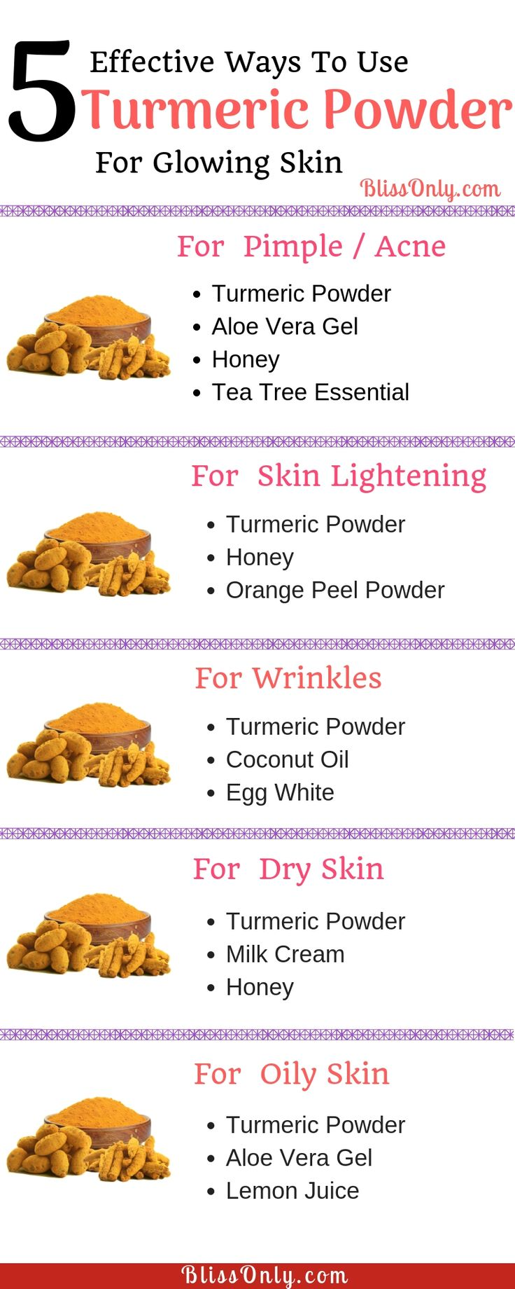 5 Turmeric Face Mask For Beautiful FaceBlissonly | Natural Beauty, Weightloss, Healthy Living Ideas
