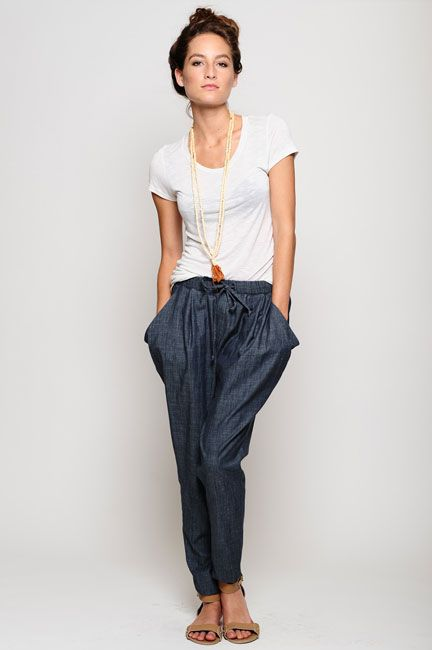 comfy and stylish chambray pants