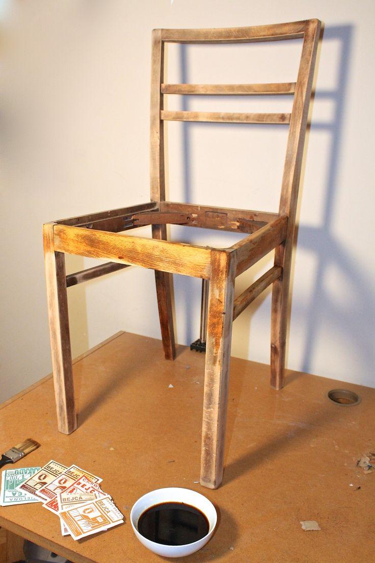 majsterki odnawiają meble. Renowacja krzesła krok po kroku z wymianą tapicerki