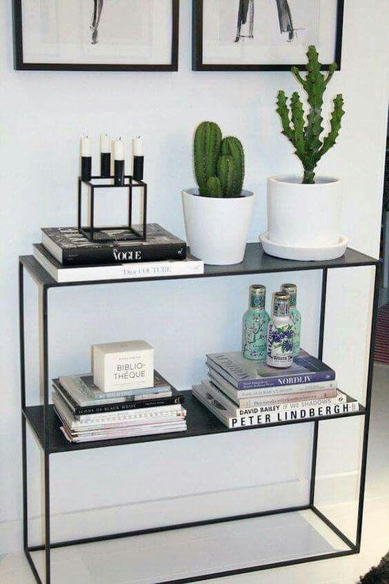 Black, white, and cactus