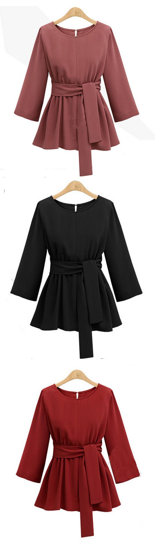 Women's Plus Size Going out Punk & Gothic Sophisticated Fall Winter Blouse