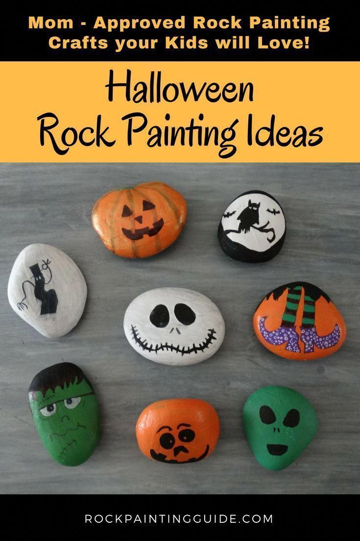 Mom Approved – Halloween Rock Painting Ideas that your kids will love! – #approved #hallowee…