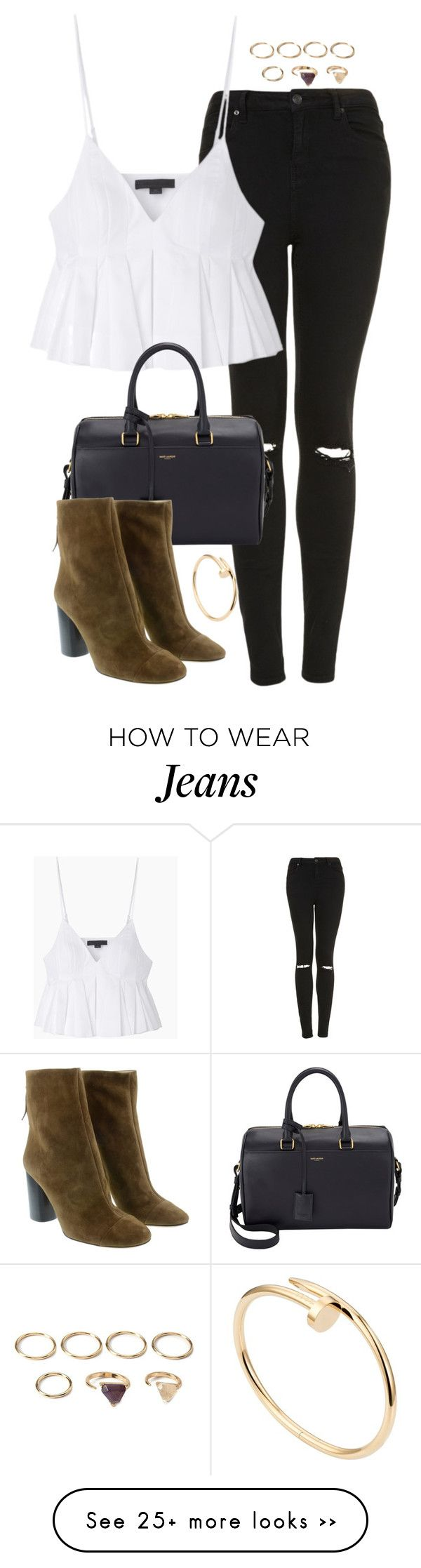 """""""Untitled #4776"""" by eleanorsclosettt on Polyvore featuring Topshop, Alexander Wang, Yves Saint Laurent, Isabel Marant, Forever 21 and Cartier"""