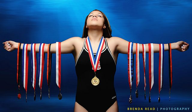 swimmer I know just the right high school senior for this shot! .Welker Photography of Boise Idaho is always looking for good ways to pose our clients.  This is a great pose we may have to add to our recommended poses.