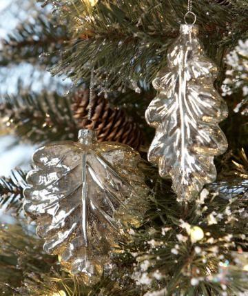 Mercury glass leaves!