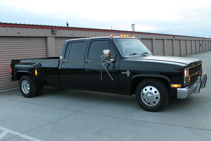 All blacked out 1984 Chevrolet C30 Silverado Crew Cab Pickup Dually (Unrestored!)