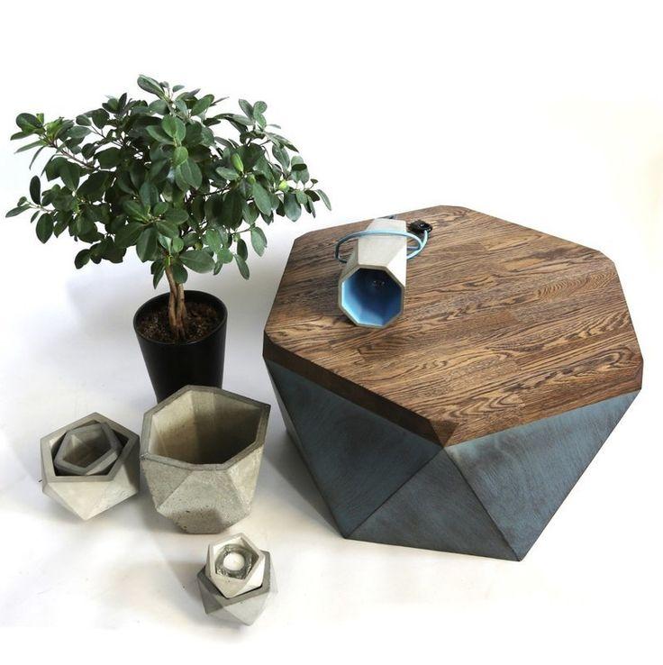 стол журнальный < гексагон бриллиант oak >
