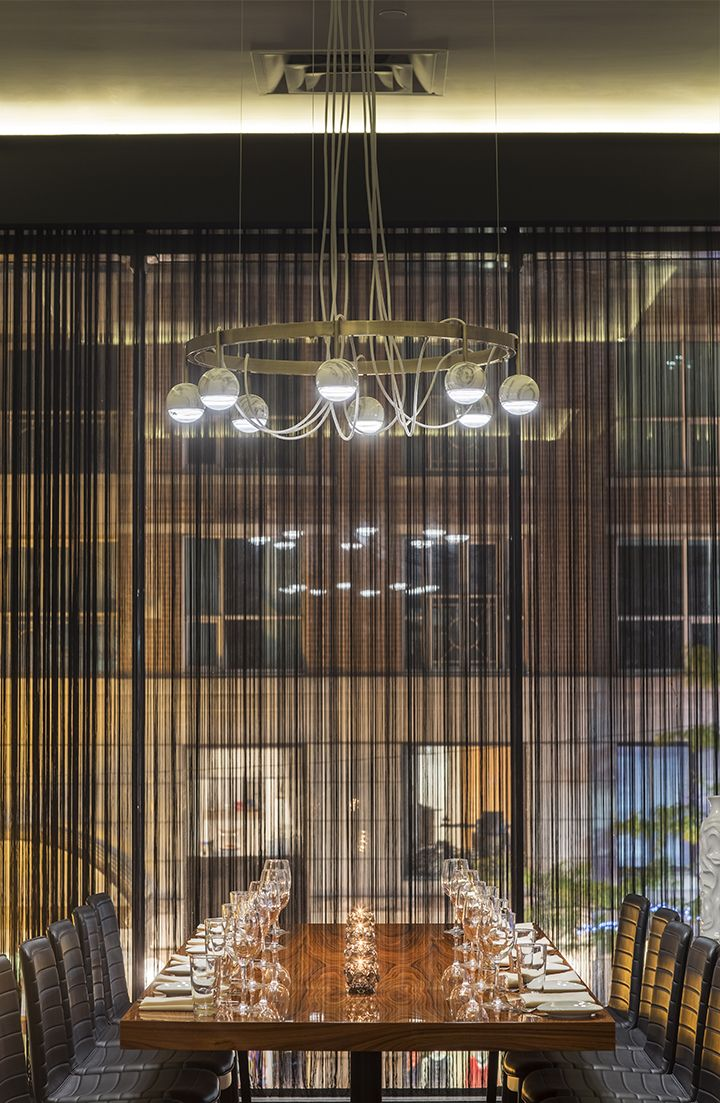 33 best restaurant lighting custom projects images on pinterest custom chandelier for stk steakhouse in toronto by viso inc designed in collaboration with the arubaitofo Image collections