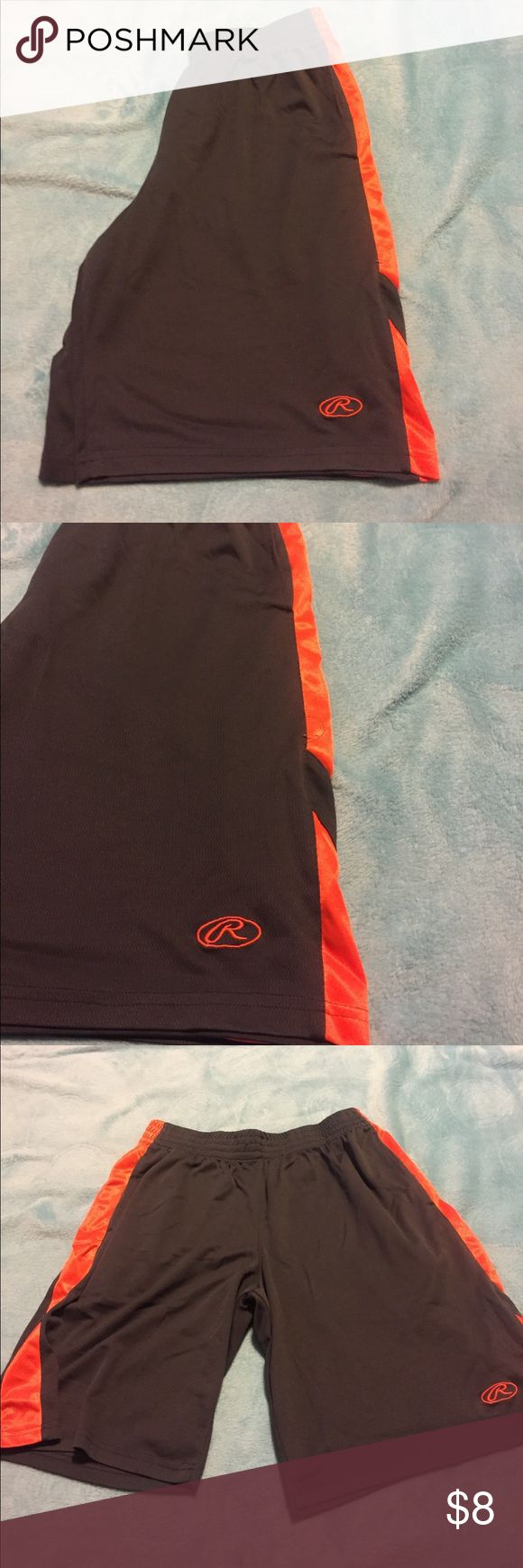 Men's gym shorts Men's gym shorts.       Gray and orange.         Size XL.      Good condition Shorts Athletic