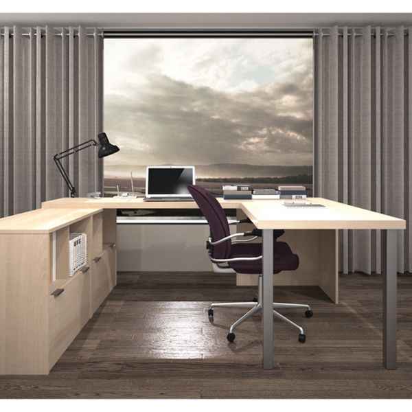 Captivating Work More Productively With The Help Of The Sleek U Shaped Desk By Bestar.  Created To Adapt To Your Living Space With The Flexibility Of Its  Configuration ... Nice Ideas